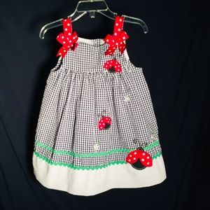 RARE EDITIONS 🐞 Toddler Girl's Plaid Sun Dress